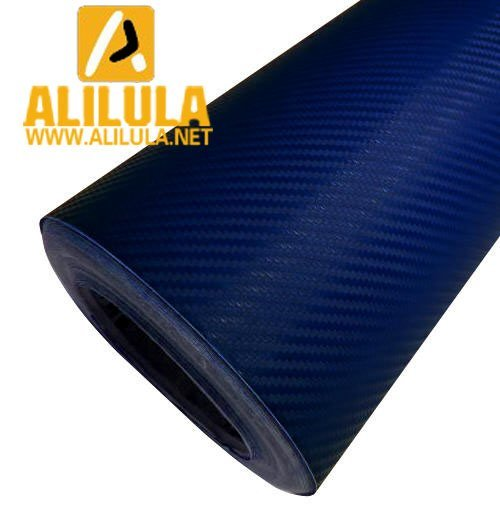 3DTQ-DBL, Dar Blue High Flexible 1.52m*30m With Air Channel Bubble Free 3D Carbon Vinyl Film