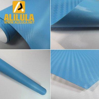 3DTQ-Bl, High Flexible 1.52m*30m with Air Channel Bubble Free 3D Carbon Fiber Vinyl