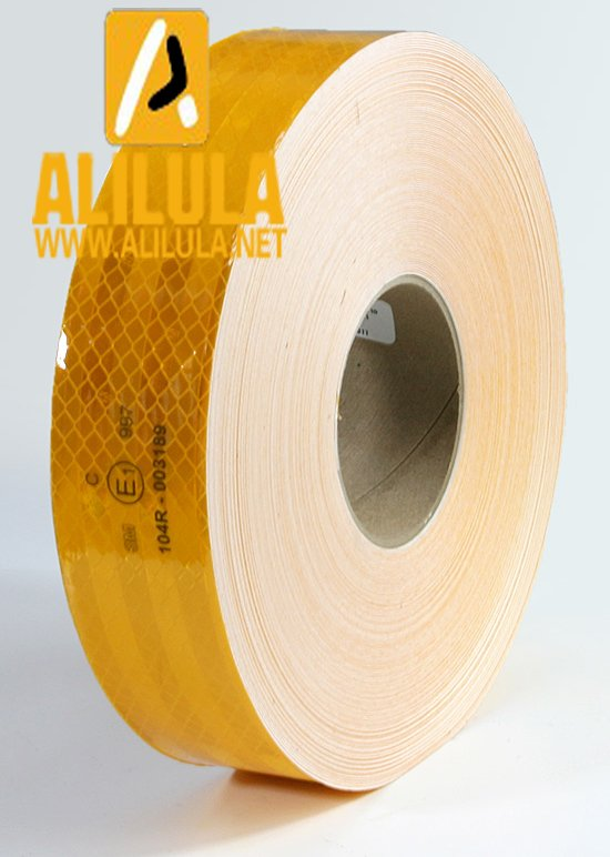WS-10-Y01, ECE Conspicuity Tape 50mm*50yards Diamond Grade Truck Reflective Tape