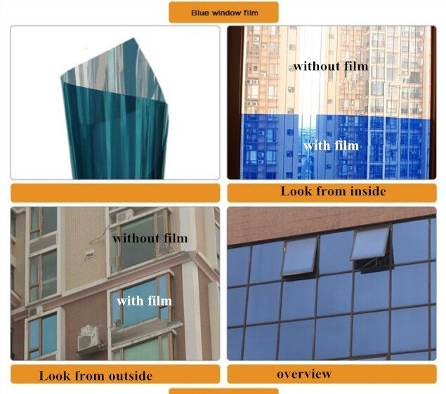 Building Glass 1.52m*30m Energy Saving Low e Window Glass Film