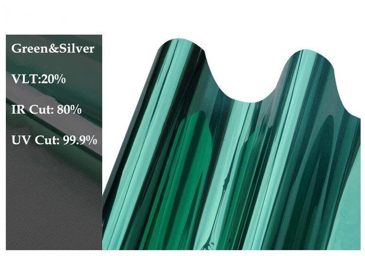 Building Glass 1.52m*30m Energy Saving Low e Window Glass Film