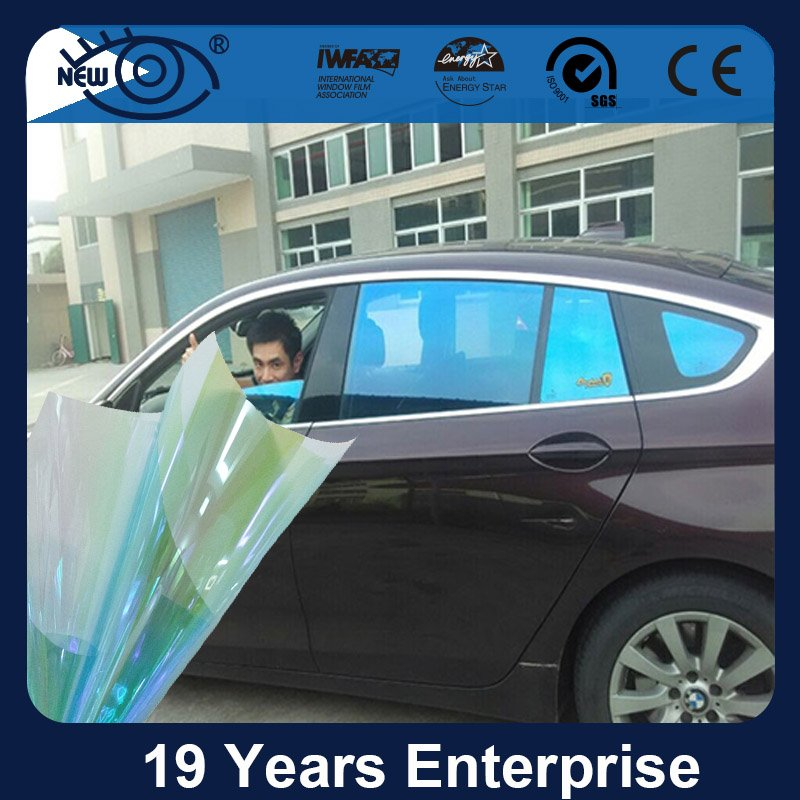 CM7580, Car Window Blue Chameleon Tint Film