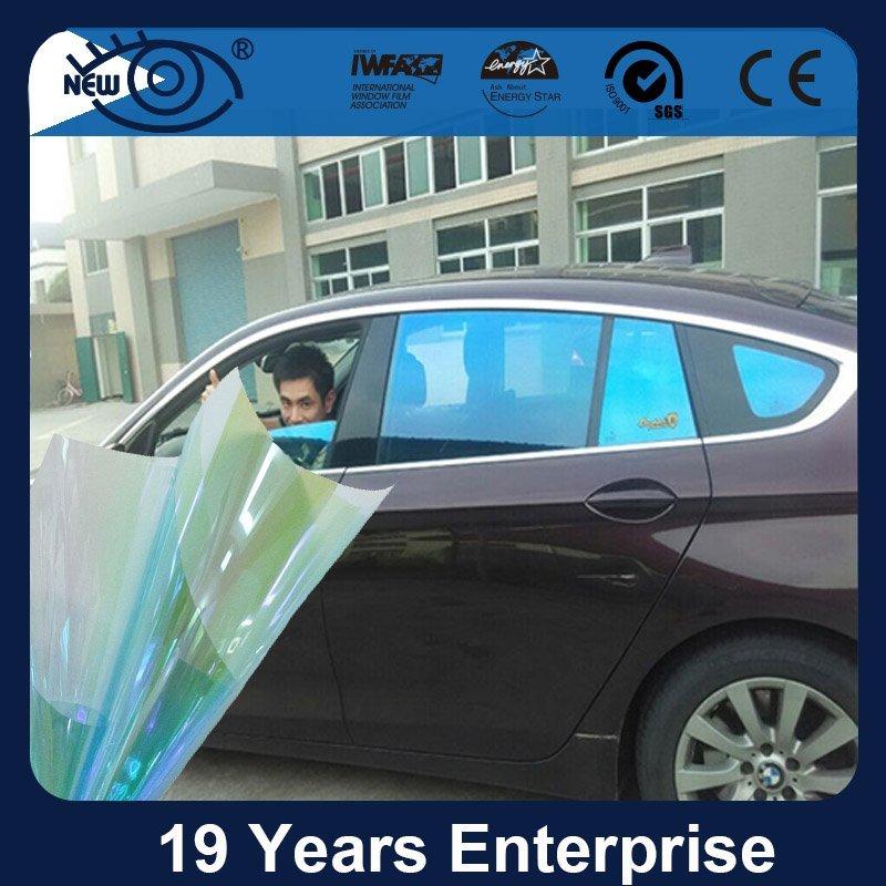 CM7580, Car Window Blue Chameleon Tint Film