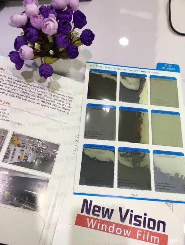 Semi-reflective silver&black window solar film, FX-BK50