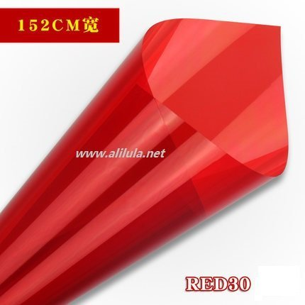 Colored Building window Tint in Red Color, Item:Red